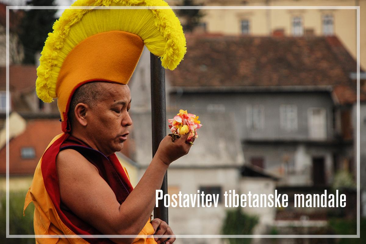 Postavitev tibetanske mandale