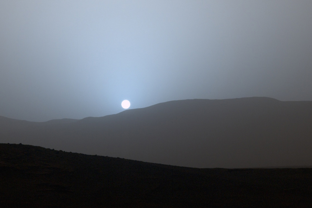 sunset from Mars